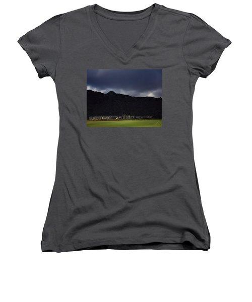 Wales Women's V-Neck T-Shirt (Junior Cut) by Shaun Higson