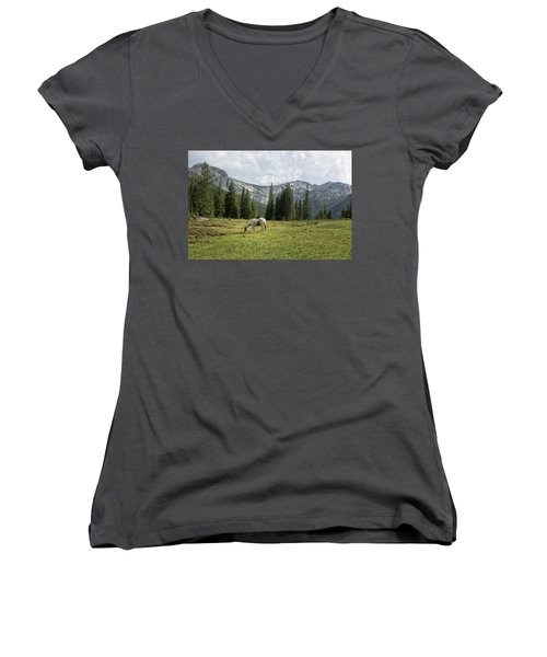 Wallowas - No. 2 Women's V-Neck (Athletic Fit)