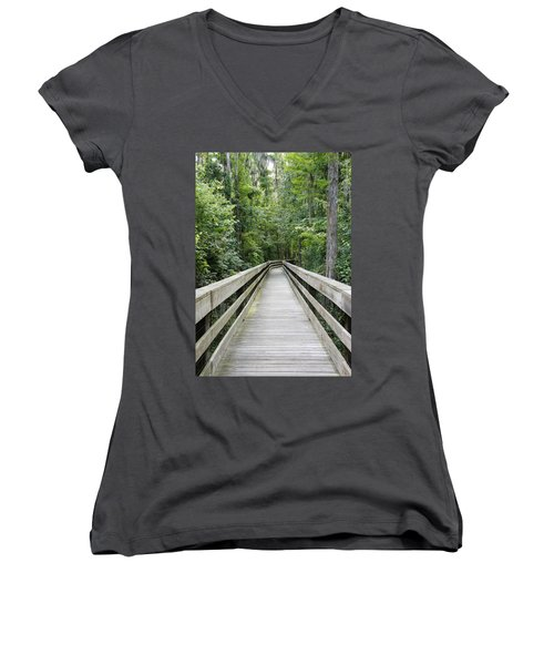 Women's V-Neck T-Shirt (Junior Cut) featuring the photograph Wander by Laurie Perry