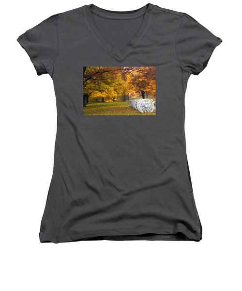 War And Peace Women's V-Neck T-Shirt (Junior Cut) by Paul W Faust -  Impressions of Light