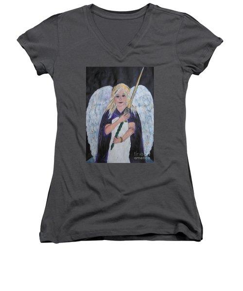 Warrior Angel Women's V-Neck