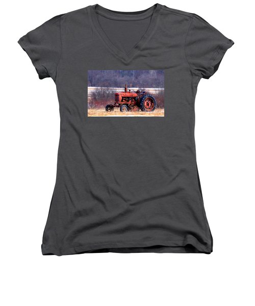 Warrior Of The Fields Women's V-Neck T-Shirt (Junior Cut)
