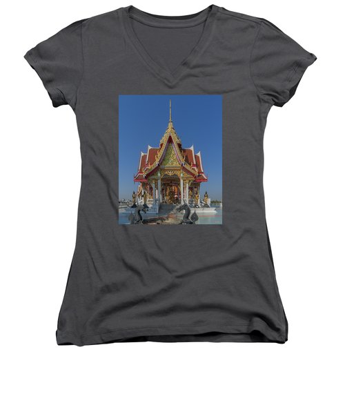 Wat Bukkhalo Central Roof-top Pavilion Dthb1809 Women's V-Neck