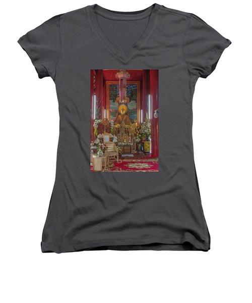 Wat Chedi Liem Phra Wihan Buddha Image Dthcm0827 Women's V-Neck