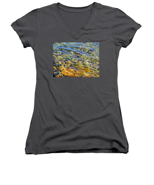 Water Abstract Women's V-Neck