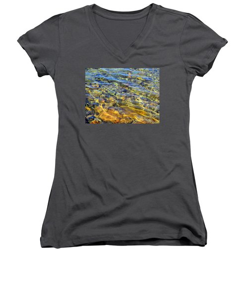 Water Abstract Women's V-Neck (Athletic Fit)