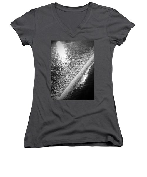 Women's V-Neck T-Shirt (Junior Cut) featuring the photograph Water And Light by Photographic Arts And Design Studio