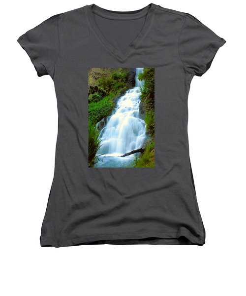Waterfalls In Golden Gate Park Women's V-Neck