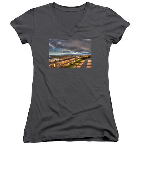 Waterfront Walkway Women's V-Neck