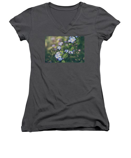 We Lay With The Flowers Women's V-Neck