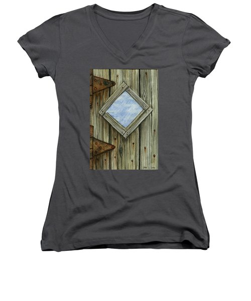 Weathered #2 Women's V-Neck (Athletic Fit)