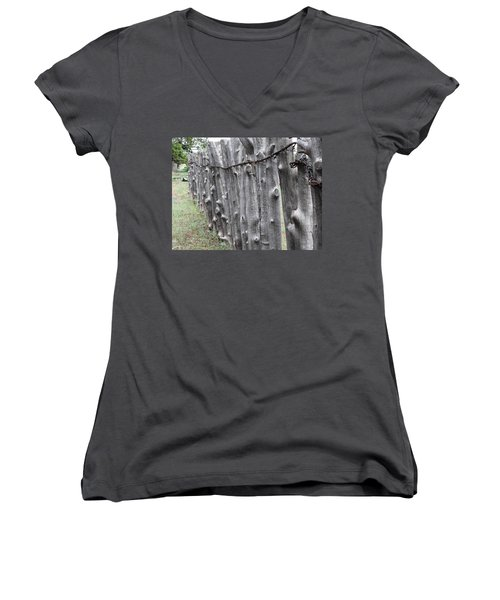 Women's V-Neck T-Shirt (Junior Cut) featuring the photograph Weathered by Natalie Ortiz