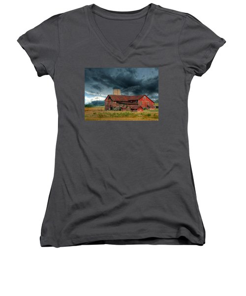 Weathering The Storm Women's V-Neck (Athletic Fit)