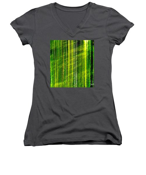 Weeping Willow Tree Ribbons Women's V-Neck T-Shirt
