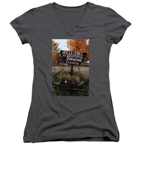 Welcome ... Women's V-Neck (Athletic Fit)