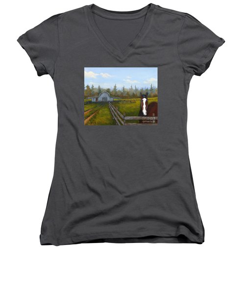 Welcome Home Women's V-Neck T-Shirt