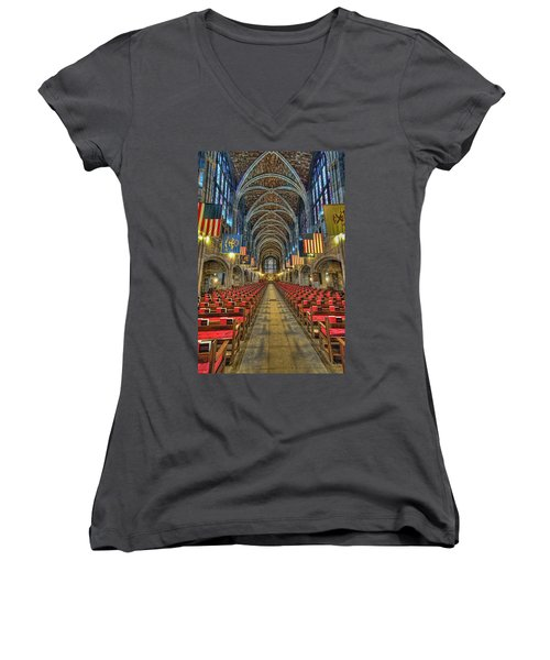 West Point Cadet Chapel Women's V-Neck (Athletic Fit)