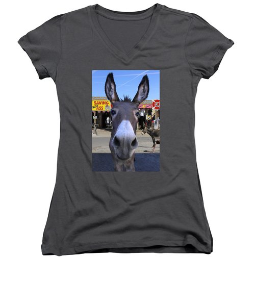 What . . . No Carrots Women's V-Neck T-Shirt (Junior Cut) by Mike McGlothlen