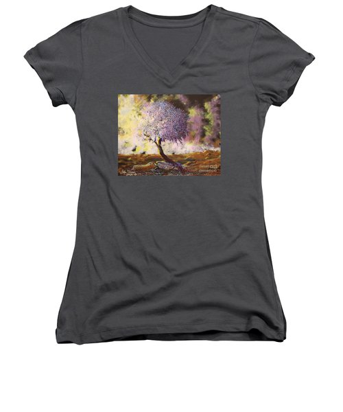 What Dreams May Come Spirit Tree Women's V-Neck