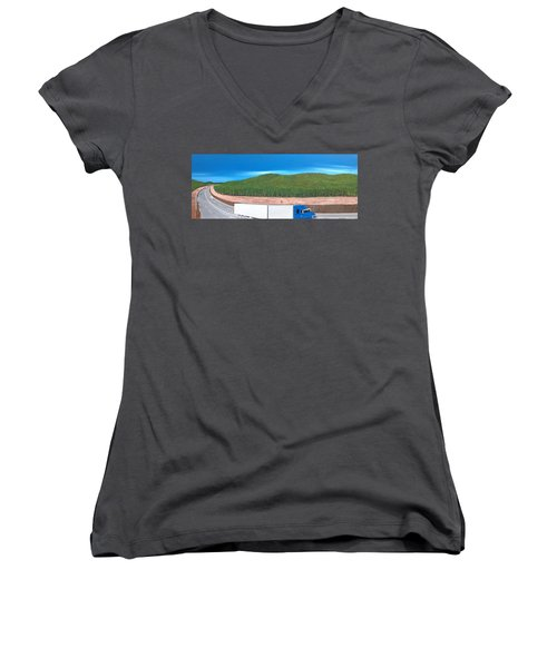 What Happened To My Homeland Women's V-Neck T-Shirt (Junior Cut) by Tim Mullaney