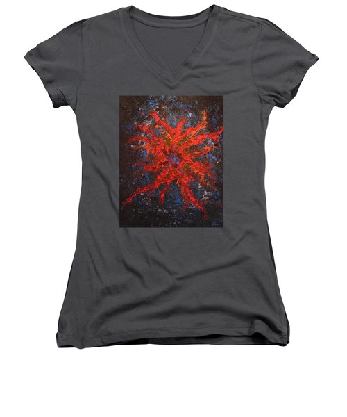 What Lies Below Women's V-Neck (Athletic Fit)