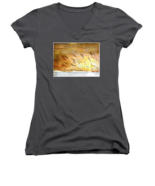 Wheat Women's V-Neck (Athletic Fit)