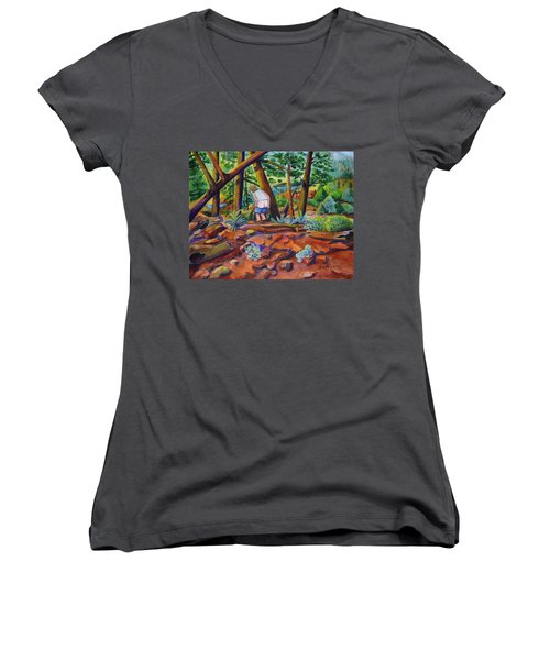 When Nature Calls Women's V-Neck T-Shirt