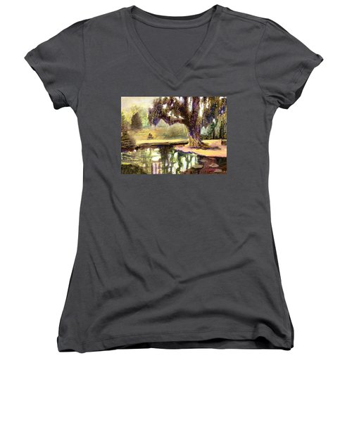 Where It All Started Women's V-Neck (Athletic Fit)