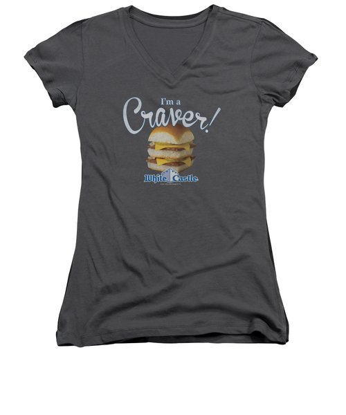 White Castle - Craver Women's V-Neck (Athletic Fit)