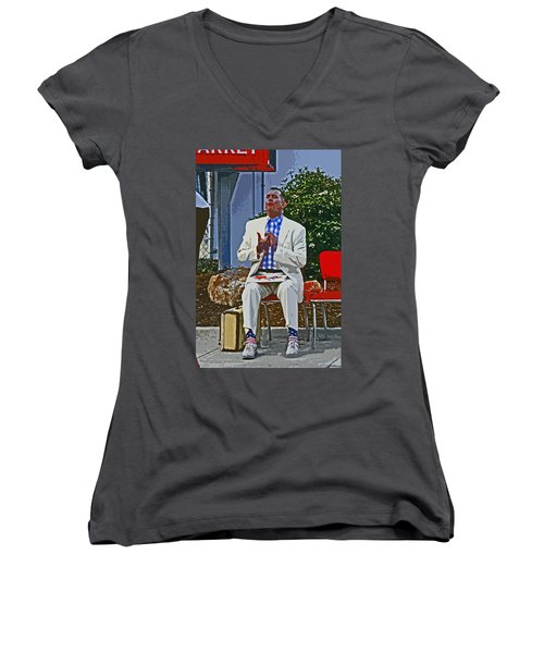 Who Is Ur Bubba Women's V-Neck