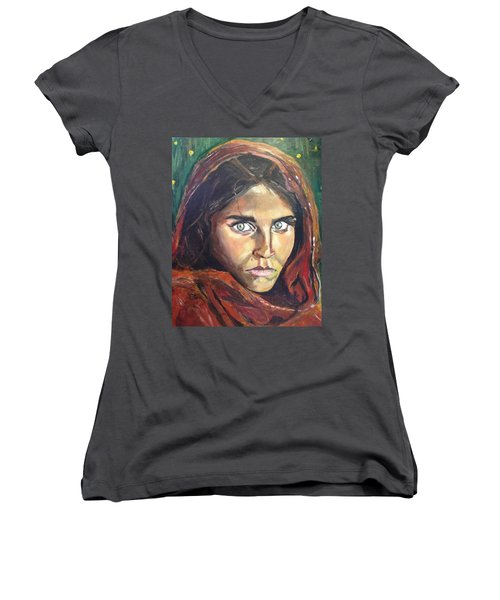 Who's That Girl? Women's V-Neck (Athletic Fit)
