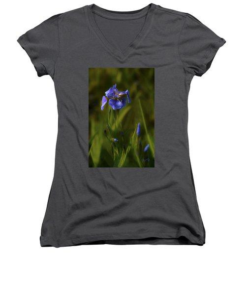 Wild Alaskan Iris Women's V-Neck