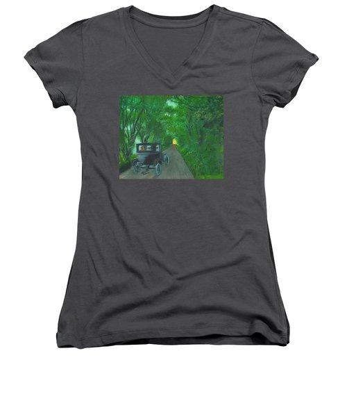 Wild Irish Roads Women's V-Neck T-Shirt