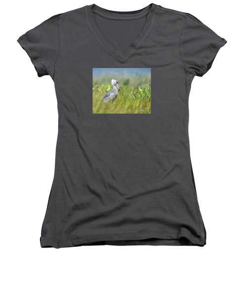 Wild Shoebill Balaeniceps Rex  Women's V-Neck