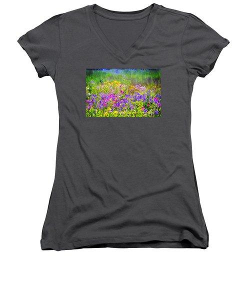Wildflower Beauty  Women's V-Neck T-Shirt