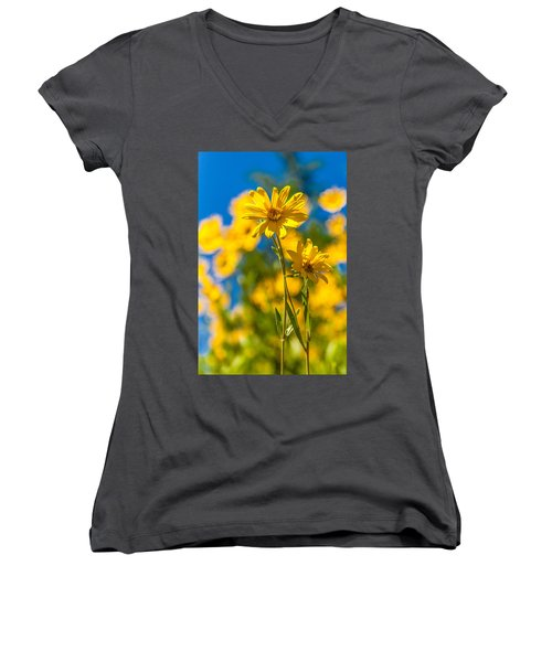 Wildflowers Standing Out Women's V-Neck T-Shirt