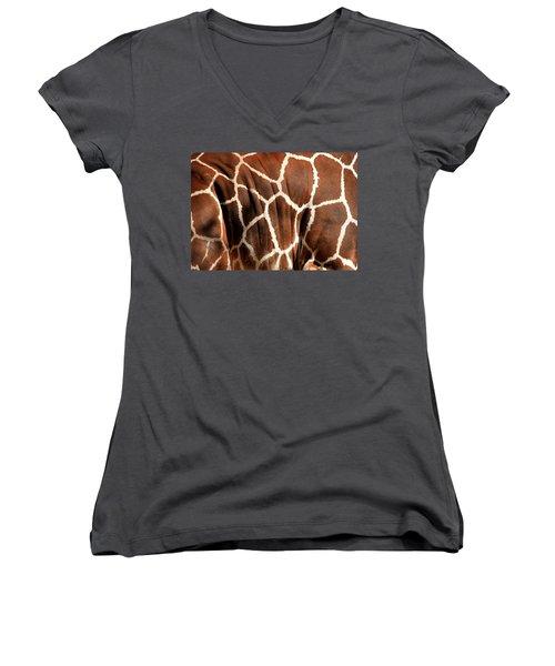 Wildlife Patterns  Women's V-Neck (Athletic Fit)