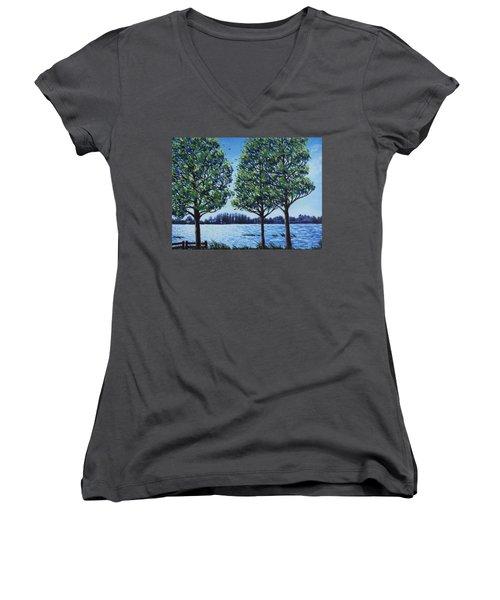 Wind In The Trees Women's V-Neck
