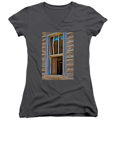 Window With A Light Women's V-Neck (Athletic Fit)