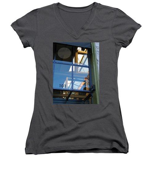 Windows 101 Women's V-Neck T-Shirt (Junior Cut) by Brooks Garten Hauschild