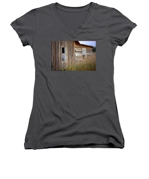 Women's V-Neck T-Shirt (Junior Cut) featuring the photograph Windows On The World by Gordon Elwell