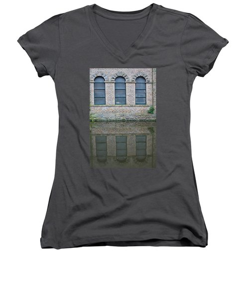 Windows Reflected In Water Women's V-Neck (Athletic Fit)