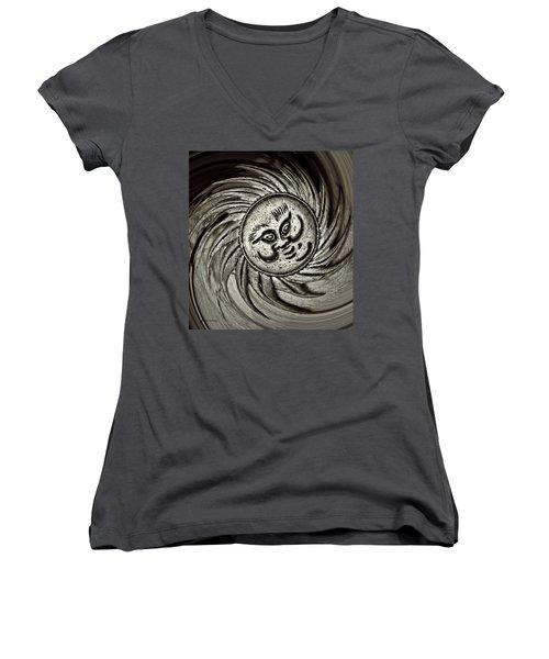 Windy Sun  Women's V-Neck T-Shirt (Junior Cut) by Chris Berry