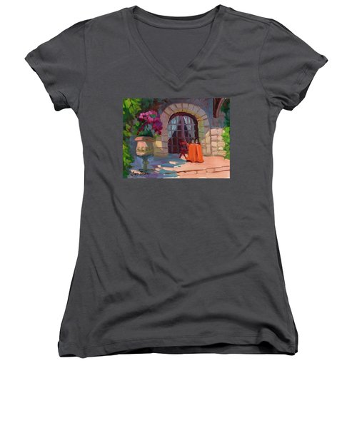 Wine For Two Women's V-Neck