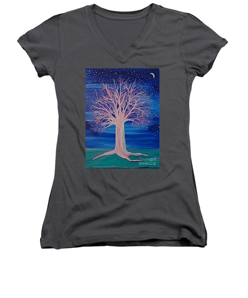Winter Fantasy Tree Women's V-Neck (Athletic Fit)