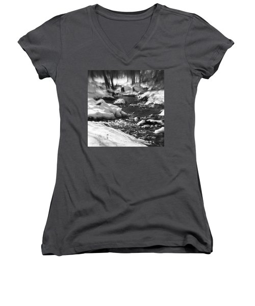 Winter Flow Women's V-Neck T-Shirt (Junior Cut)