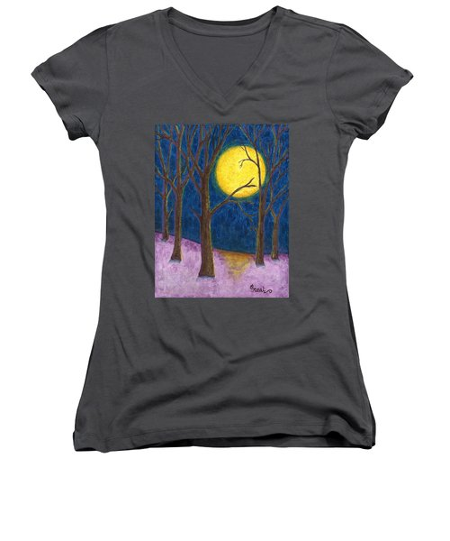 Winter Moon Women's V-Neck (Athletic Fit)