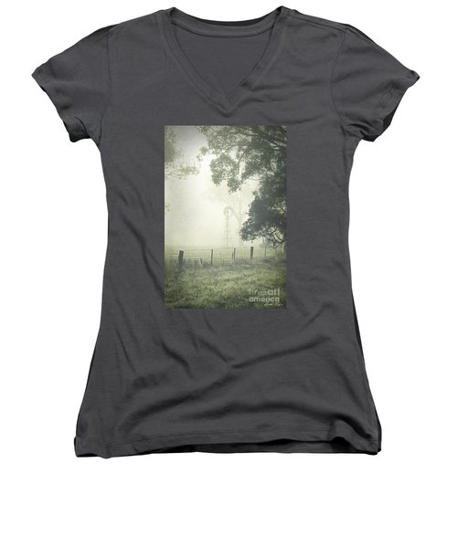 Winter Morning Londrigan 9 Women's V-Neck T-Shirt