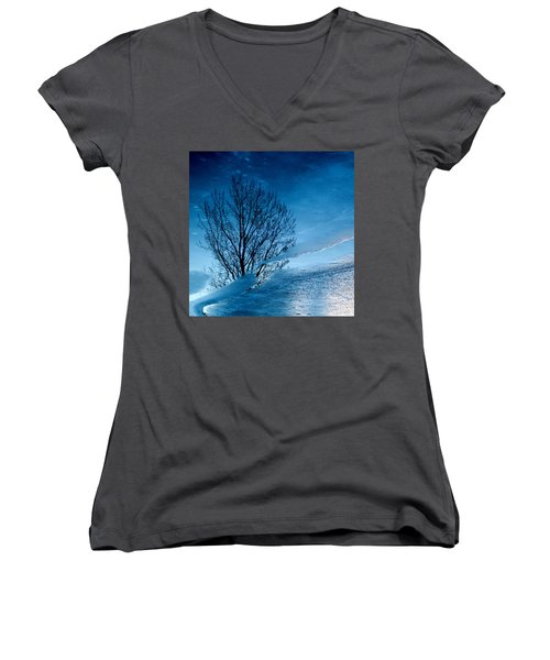 Winter Reflections Women's V-Neck T-Shirt