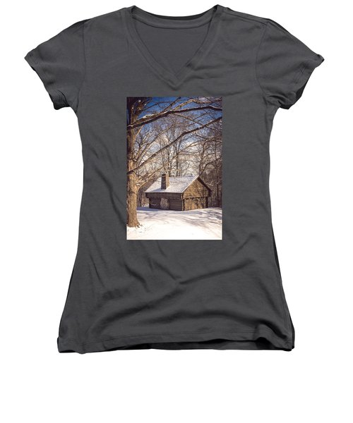 Winter Retreat Women's V-Neck T-Shirt